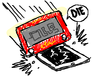 Etch-a-Sketch kills IPad
