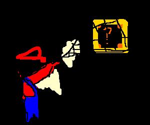 Mario nets a '?' cube