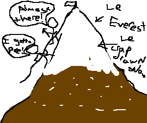 Climbing to the top of mt.everest