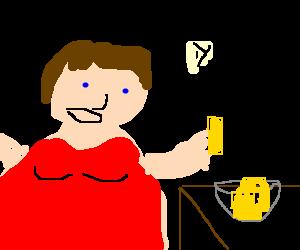 Paula Deen likes her butter!