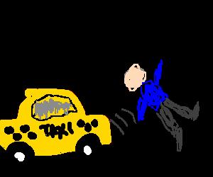 Bilderesultat for man run over by taxi