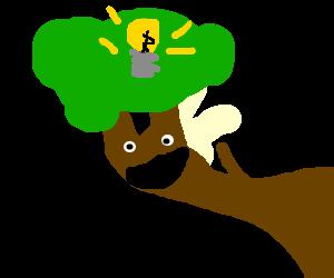 Branch has golden idea.