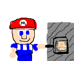 Super Mario make a pencake in happy griddle