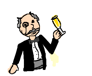 Classy gentleman enjoying a white wine