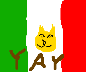 Weird Mexican Yellow cat rejoices!