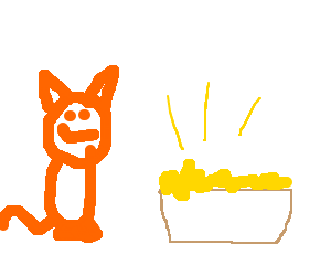 Garfield stealing gold from the treasurey