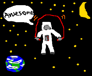 Ropeskipping in Space is AWESOME!