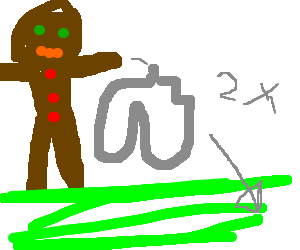 Ginger guy throwing serpentines in a green field