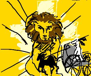 Dog charioteer vs Aslan