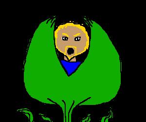 Man-eating plant eats man