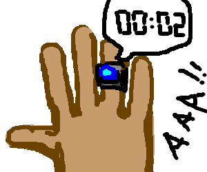 Sapphire ring about to explode