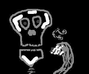 everybody loves the singing skeleton!