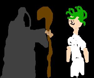 A necromancer revives his best friend's hair