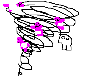a tornado of dead babies