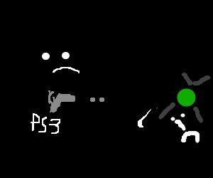 A PS3 shoots the original XBox