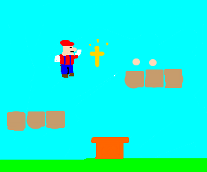 Mario accepts Christianity