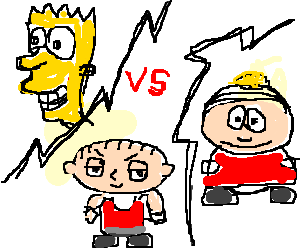 south park vs family guy Watch family guy online instantly start your 14 day now tv free trial & stream  tv live & on demand to your tv, ipad, iphone & other devices.