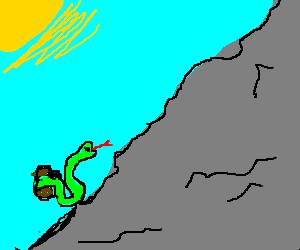 Potato and snake go mountain climbing