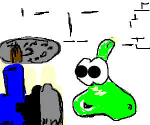 RPG hero loses first battle with slime.