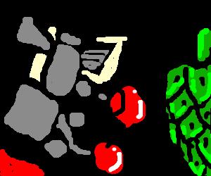 Boxer trains hitting an artichoke