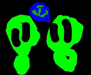 Aliens question a future earth