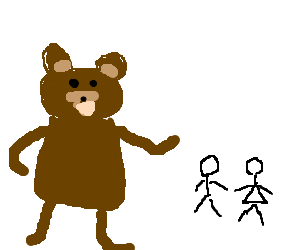 Pedobear approaching couple