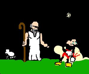 shepherd berates emotional rodent