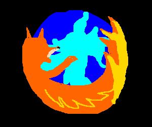 An orange fox