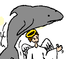 shark jumping an angel with parkinson's