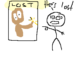 Scared boy reports a lost ET