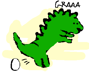 Velociraptor lays some eggs
