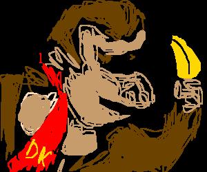 Donkey Kong with a banana