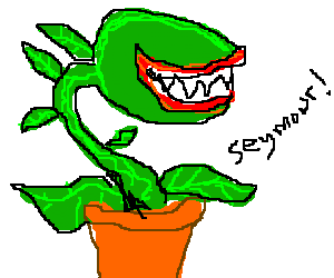 Vicious, hungry plant calling out for Seymour