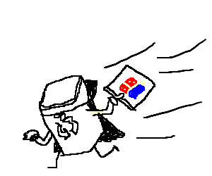 Trash can from the dark side steals Dominos!