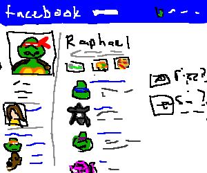 Ninja Turtle Raphael's Facebook page