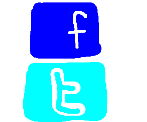 Facebook over twitter (altho, both sucks)