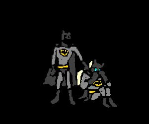 Batman's twin won't stop crying