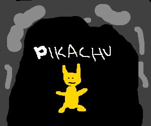 pikachu s caveman ancestor uses bash attack drawing by aurora