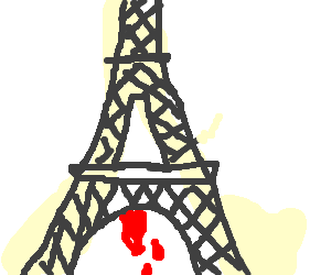 eiffel tower on its period
