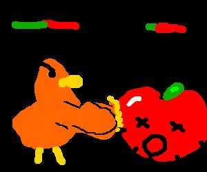 A chicken beats an Apple G4 at Tekken