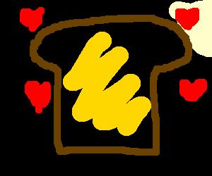 Love butter on bread