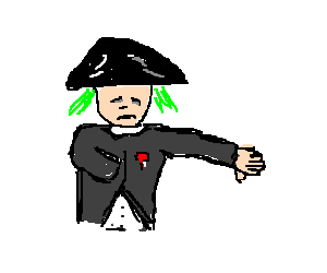 napoleon dyed his hair green but doesn't like it