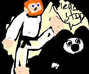 dojo master beating up mouse