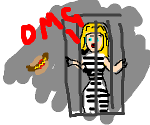 "Blonde girl in jail says ""OMG!"" with hot dog"