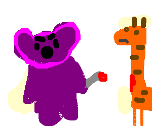 Purple Bear Assassinates Giraffe