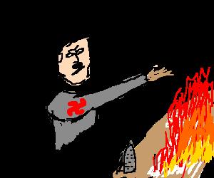 Hitler causing ironed shirt to explode.