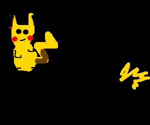 pikachu casts several dice on a blonde stickman