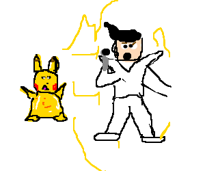 Pikachu throws down with the king