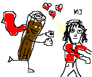 log man is in love with Michael Jackson
