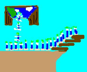 Lemmings with a bridge